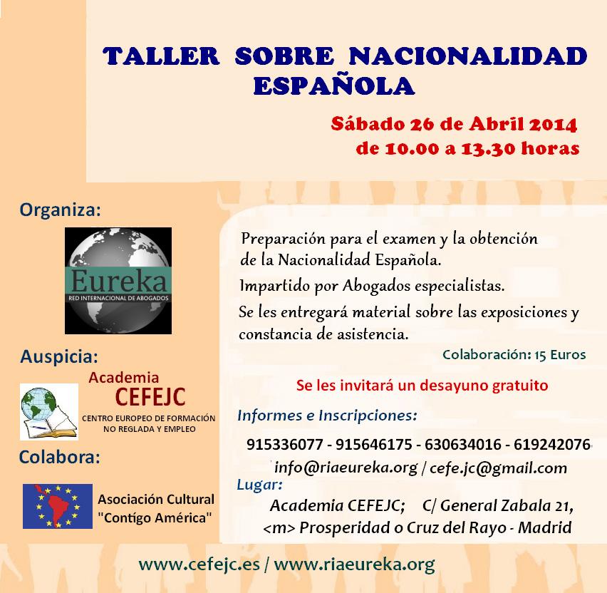 Preparación para examen de nacionalidad Española | RedEureka | RIAE