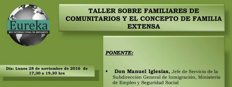 Taller sobre familiares de comunitarios y el concepto de familia extensa