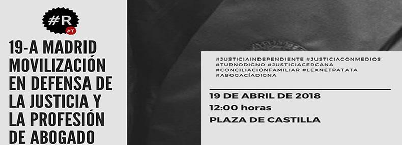 Movilización en defensa de la justicia y de la profesión de abogado