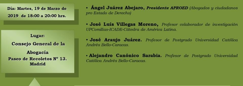 Seminario sobre análisis jurídico sobre la situación de Venezuela